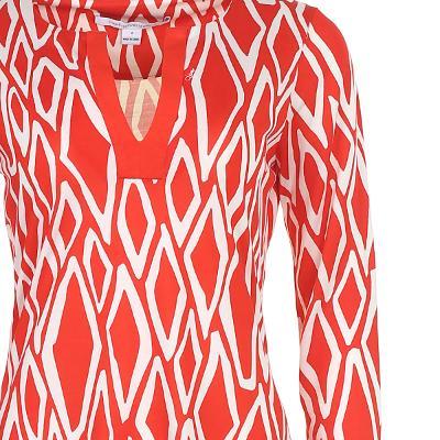 unique pattern v-neck dress multi